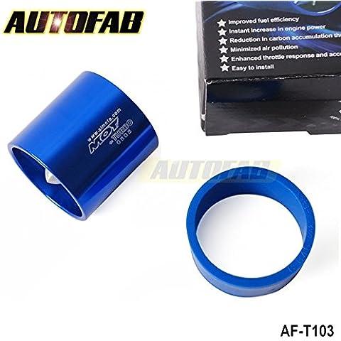 upetch (TM) Turbo Supercharger piccole dimensioni Ventola (od: 55mm) prestazioni, forza flusso turbina risparmio di carburante Super spirale Turbo ventilatore af-t103