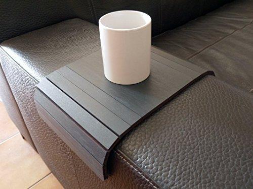 Holz sofa armlehnentisch in vielen farben wie anthrazit Armlehnentablett Moderner tisch für couch Klein schleichendes sofatisch Armlehne flexibel tablett Falten couchtisch Kleine tische