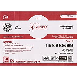 Shuchita Prakashan's Solved Scanner on Paper 5 Financial Accounting for CMA / CWA Inter Group I June 2018 Exam (Syllabus 2016)