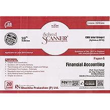 Shuchita Prakashan's Solved Scanner on Paper 5 Financial Accounting for CMA / CWA Inter Group I June 2018 Exam (Syllabus 2016)