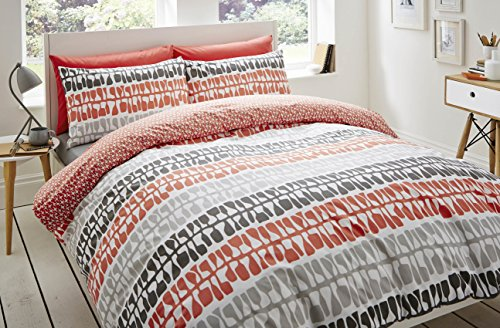 Lotta Jansdotter Follie Coral Single Bettbezug Set enthält 1x Kissenbezug, 100% Baumwolle, Coral, Single, Set 1 (Tabelle Ashley)