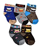 #10: Crux&hunter 5 pair cotton towel(winter) socks of baby boy's and girl's(Age group 0-2 years)