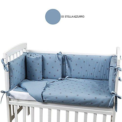 Picci Textile Coating 4 Pieces Cot Lella Star Blue Pc351 C03