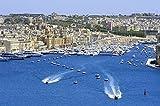 lunaprint Harbor and City Landscape On The Seaside In Malta