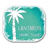 2 x 10cm/100 mm Isla de Lanzarote España Etiqueta autoadhesiva de vinilo adhesivo portátil de viaje equipaje signo coche divertido #6343