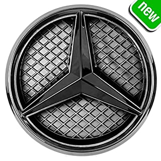 JetStyle LED Emblem, Front Car Grill Badge, Auto Illuminated Logo, Glowing Star Lights, White DRL Daytime Running Lights - Drive Brighter (2011-2018 Black)