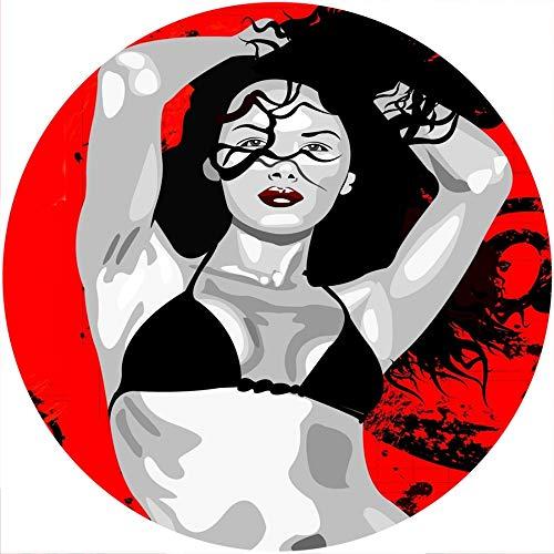 Slipmat Rutschmatte/Kratzmatte aus Filz für jeden 30,5 cm LP DJ Vinyl Plattenspieler Custom Graphical - Bikini Girl