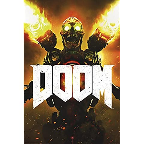 empireposter 736307 Doom – Key Art gioco video game Poster Stampa, Carta, Multicolore, 91,5 x 61 x