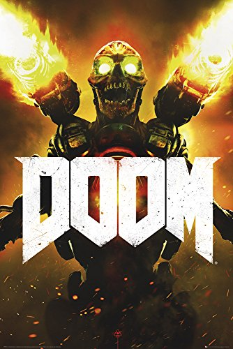 empireposter 736307 Doom - Key Art gioco video game Poster Stampa, Carta, Multicolore, 91,5 x 61 x
