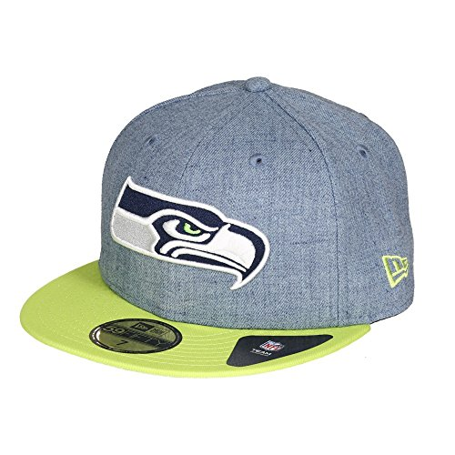 New Era Herren Caps / Fitted Cap Heather Team Seattle Seahawks blau 7 1/8 - 56,8cm -