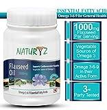 Naturyz Cold Pressed Flaxseed Oil (Omega 3-6-9) 1000 mg -60 Softgel Capsules