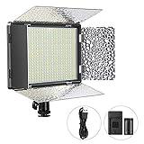 ENEGON Pannello Luminoso 520 luci LED con batteria ricaricabile 4000mAh, Caricabatterie, Accessorio utile per tutte le DSLR Fotocamere Videocamere Treppiede CRI95+, 3200-5600K per Studio Video YouTube