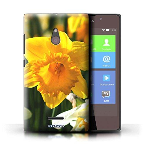 Kobalt® Imprimé Etui / Coque pour Nokia XL / Begonia conception / Série floral Fleurs jonquille