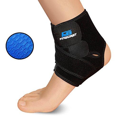 FinBurst Knöchelbandage - Erhöhen Sie Ihre Erholung und Selbstvertrauen - Beste Fußbandage für Arthritis, Tendinitis und Verstauchung (Black, 1 Stück)