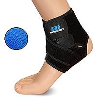 FinBurst Tobillera Deportiva - Aumente su Recuperación y Confianza - Excelente Estabilizador para Esguinces, Tendinitis y Artritis (1 pieza)