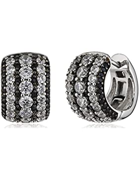 Esprit Damen-Creolen 925 Sterling Silber rhodiniert Zirkonia Sidera ELCO91901A000