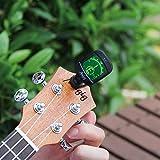 Mugig Clip-on Stimmgerät / Tuner für Gitarre, Ukulele, Bass, Geige, CE FCC Zertifiziert, Rohs-konform, Chromatisches Stimmgerät mit Batterie, Automatisch Ausgeschaltet - 6