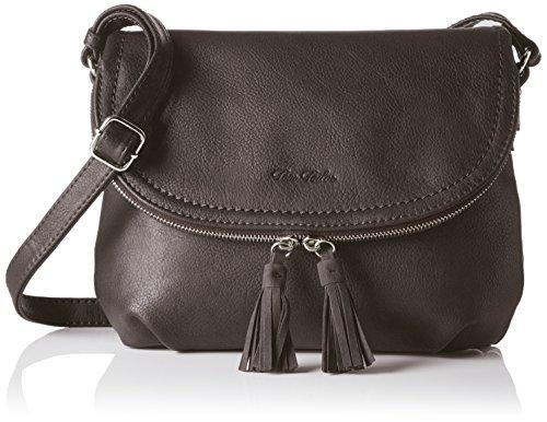 TOM TAILOR für Frauen Taschen & Geldbörsen Umhängetasche mit Quasten-Detail grey, OneSize