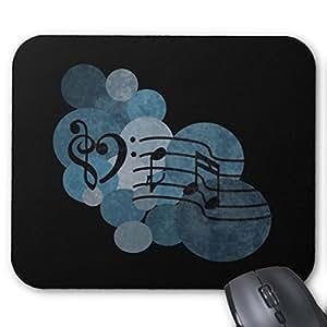 Fly Tapis de souris personnalisée Tapis de souris personnalisé Cœur Musique clefs et tapis de souris Motif pois Bleu