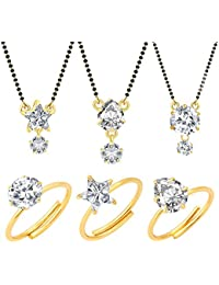 Jewels Galaxy Gold Plated Jewellery Set For Women (White)(CB-MS-891)