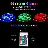 XZZ LED-Lichtleiste, stimmaktivierte Farbrhythmus dekorative Musik Lichtstreifen SMD5 Meter 150 Lichter TV Familienparty Dekoration