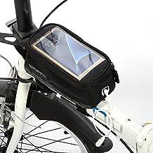 Bicicleta bolsa para bicicleta alforjas para tubo superior de cuadro de bicicleta alforja bicicleta marco bolsa de almacenamiento bolsa para sillín de bicicleta Ciclismo Manillar, tamaño large