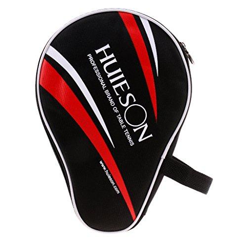 Sharplace Tischtennisschläger-Tasche für 2pcs Schläger und 3pcs Bälle - Schwarz
