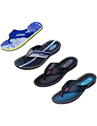 Indistar Men Flip Flop House Slipper And Sandal-Blue/Blue/Black/Blue - B072J1QG5P