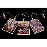 AFAITH Guirlande LED Photo à clips, clip pour photo Guirlande lumineuse (3 M/20 LEDs Blanc Chaud; 3 modes) - ajustement parfait, Salle de décoration/Noël/fêtes Porte Photo avec Clips TG03