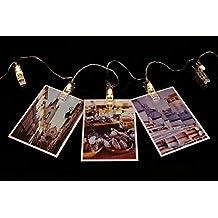 AFAITH Foto LED Hanging clip luci della stringa, Foto clip String Lights (3M / 20 LED, 3 modi) - Bianco Caldo, perfetto per decorazione della stanza / Natale / partito supporto della foto con clip