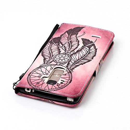 PU Silikon Schutzhülle Handyhülle Painted pc case cover hülle Handy-Fall-Haut Shell Abdeckungen für LG G4 Stylus/LS770(5.7 zoll) +Staubstecker (8OO) 7