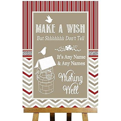 Messaggio: Wishing Well & Grigio collezione invernale stampata personalizzabile, per matrimoni