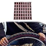 Broadroot 48pcs Pneu de vélo de vélo kit rustines + 1colle de réparation Pneu...