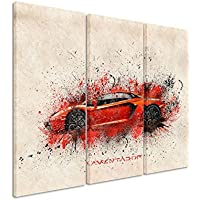 3pezzi tela Lamborghini Aventador _ _ Artwork _ 3X 90X 40cm, dimensioni 120x 90cm _ Ausführung Bella finitura di stampa su tela Reale come un quadro da parete su telaio