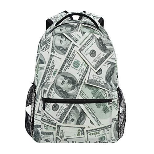 CPYang Lustige American Dollar Geldrucksäcke College, Schulter, Casual Reise, Tagesrucksack, Wandern, Camping