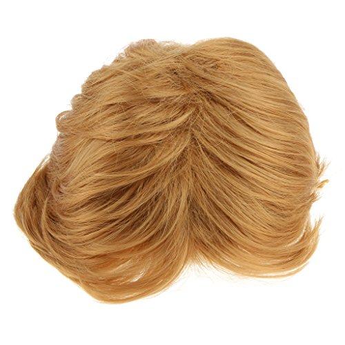 Wig Kostüm Trump Donald - MagiDeal Mann Kurze Goldene Perücke Synthetische Perücke Fasching Blond Wig Cosplay Kostüm