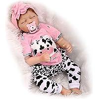 """22"""" Vrai Vie Reborn Baby Dolls 55cm Suave Vinilo de Silicona Reborn Lifelike Muñecas Bebé Recién Nacido Regalo de Juguete Muñecos Bebé"""