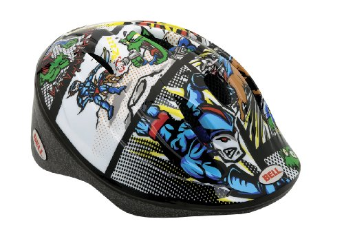 Bell Fahrradhelm Bellino, white/blue super hero comic, 48-52 cm, 210021015