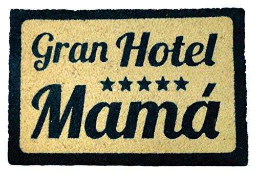 KOKO waschbare Fußmatte Kokos 135534Gran Hotel Mama, 60x 40cm, Kokosfaser natur