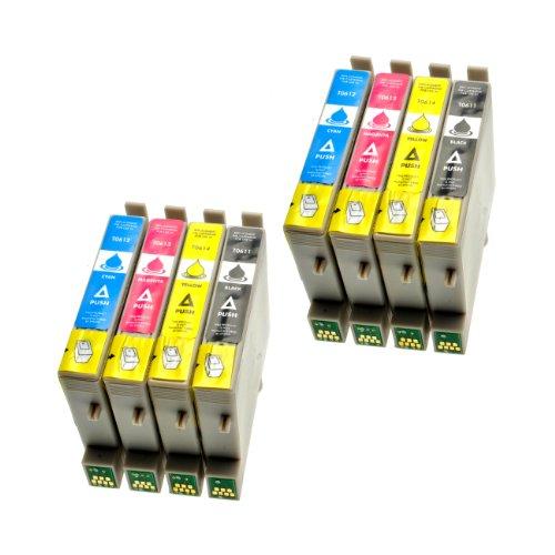 Epson 4800 Stylus (8 Patronen für Epson Stylus T0611-T0614 2-2-2-2 - 2xBlack,14 ml 6xColor,14 ml ,kompatibel)