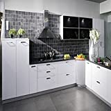 Bluelover 500x30cm Kitchen Waterproof Stickers Cabinets Wardrobe Refurbished Stickers Self Adhesive Sticker White