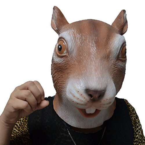 Jitong Latex Tier Kopf Maske für Halloween Maskerade-Parteien Kostüm Tiermaske ()