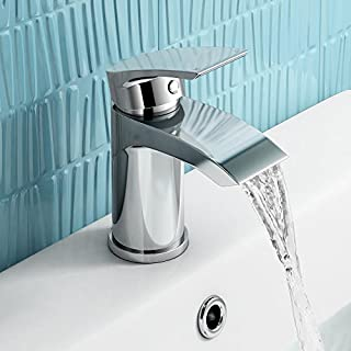 iBathUK | Cloakroom Basin Sink Mixer Tap Chrome Modern Bathroom Faucet TB141