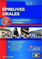 Epreuves orales : Toutes fonctions publiques Catégories A et B