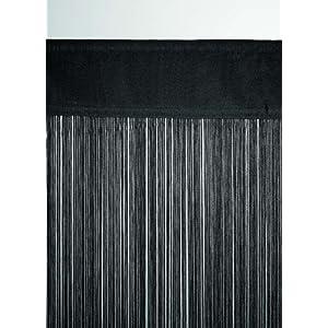 Unbekannt Fadenvorhang schwarz ca. 140 breit x 250 cm hoch