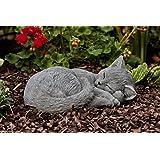 Statue chartreux chat endormi, sont expédiés, au gel jusque -30 °c , en massif pierre