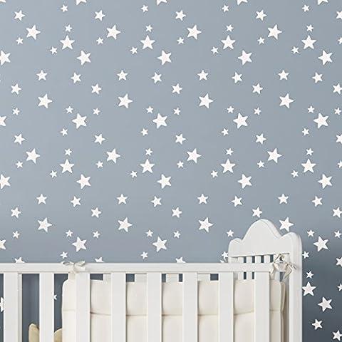 Star Cluster Repeat Wall Stencil (5-Point Star) Chidrens Boys Bedroom Nursery