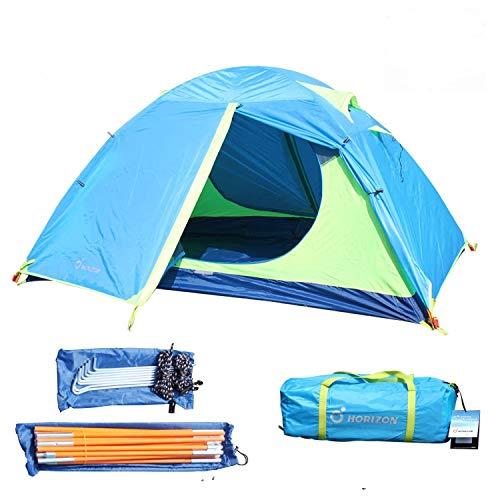 VocalSkull Leicht Trekkingzelt für 2-4 Personen Schnellöffnungs Wurfzelt mit Tragetasche Wasserdicht,3-4 Saison Camping Zelt für Trekking,Outdoor,Festival -