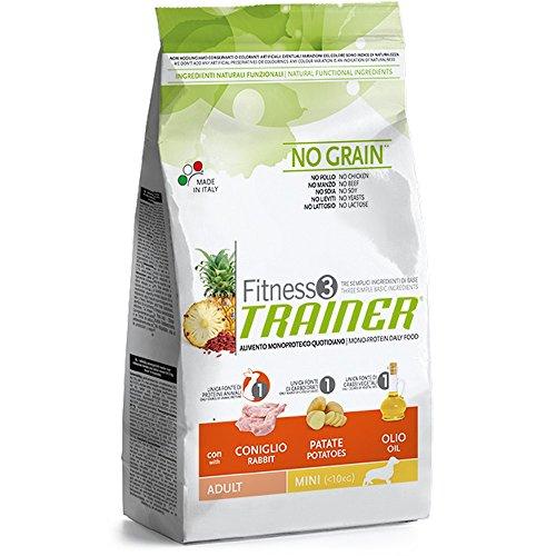 Trainer Fitness 3 No Grain Mini con Coniglio Patate e Olio 2kg, Multicolore, Unica