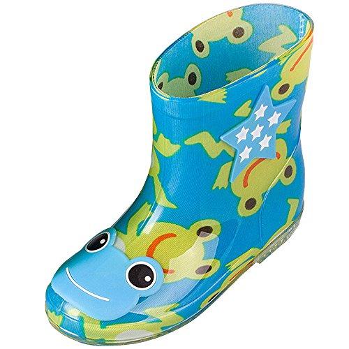 ZEVONDA Child Casual Water Shoes Non-Slip Anti-Collision Animal Doodle Baby Rain Boots